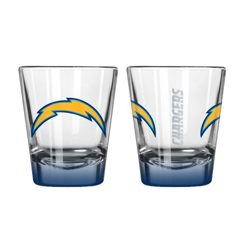 Boelter Brands NFL San Diego Chargers Elite Shot Glass, 2-Ounce, 2-Pack ()