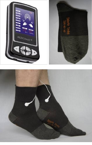 Diabetes Management Medicomat-6M Guidelines Diabetes Foot Health Management Type 2 Diabetes Pain Neuropathy Massage Socks by Medicomat (Image #1)