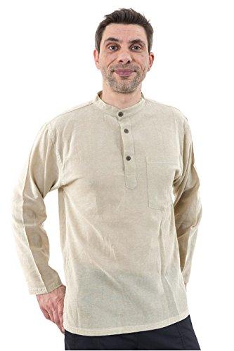 - Chemise coton nepalais 3 boutons 1 poche - L - (40-42)
