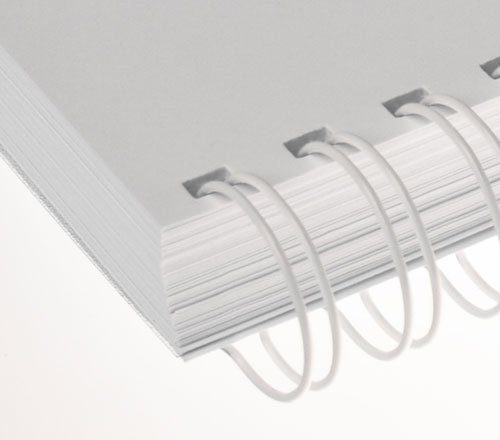 Binder/ücken Renz Ring Wire 3:1 14,3 mm f/ür 120 Blatt wei/ß