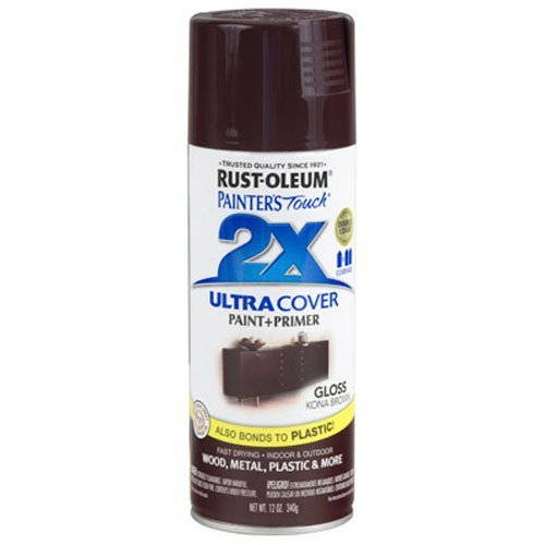 (Rust-Oleum 249102 Painter's Touch 2X Ultra Cover, 12-Ounce, Kona Brown)