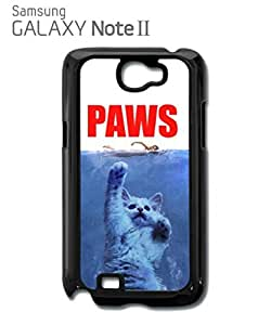 Paws Cat Kitten Meow Mobile Cell Phone Case Samsung Note 2 White