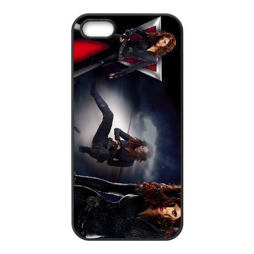 Black Widow 001 coque iPhone 5 5S cellulaire cas coque de téléphone cas téléphone cellulaire noir couvercle EOKXLLNCD22246