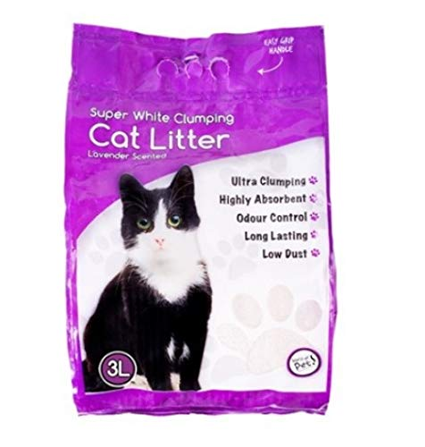 YoL 6 x 3L white clumping cat litter lavender scented 100% natural hygienic low dust pet supplies