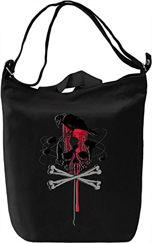 Skull And Crow Borsa Giornaliera Canvas Canvas Day Bag| 100% Premium Cotton Canvas| DTG Printing|