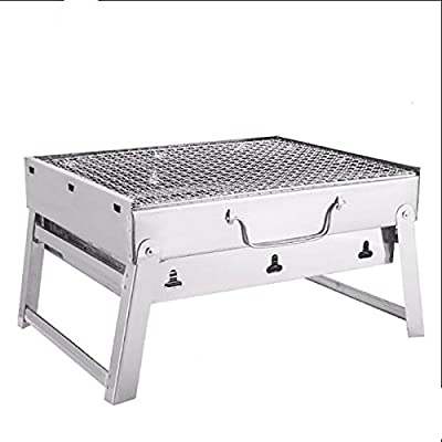 TY&WJ Plein air Portable Grill, Pliable Barbecues à charbon Pour backyard party d'avant match camping Repas en plein air Bbq Barbecues Outil-A 35*28*21cm