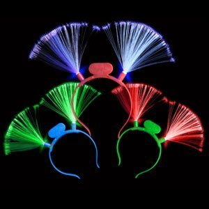 LED Light Up Fiber Optic Headbands - Assorted