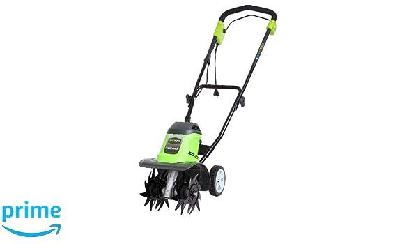 Greenworks 27017 Cultivador y Arados de Jardinería, 950 W, 230 V ...