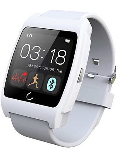 Lincass UX Heart Rate Monitorring Smart Watch Compatible With IOS & Android Bluetooth Smart Watch NFC Uwatch , silver