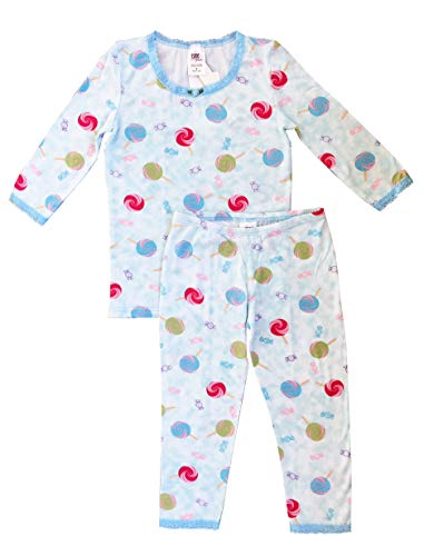 Esme Girl's Sleepwear 3/4 Long Sleeve Top Leggings Set-4 ()