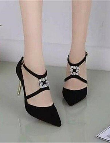 Uk6 Black us8 Rosa tacones Stiletto 5 Y us8 5 Vestido sint¨¦tico oficina Eu39 negro 5 De tac¨®n Zq Mujer Trabajo tacones Cn40 Zapatos Pink ABq1U