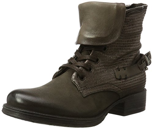 Mjus Women's 185618-0101 Combat Boots Grey (Silice 6463) vGx0Mb