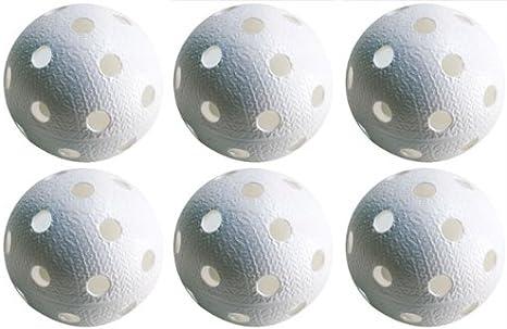 Realstick - Kit de 6 pelotas de floorball, color blanco: Amazon.es ...