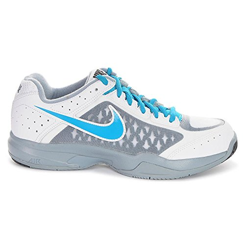 Nike Men's Air Cage Court, WHITE/BLUE LAGOON-DOVE GREY-BLUE FORCE