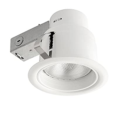 Globe Electric 9251201 5 inch Recessed Lighting Kit, White Finish with White Baffle, Flood Light