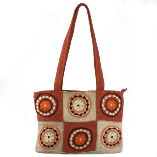 Earth-Divas-MH-155-RT-Rust-Hemp-Double-Handle-Aari-Patchworked-hand-Bag