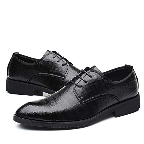 Uomo Classic Low Chic Grid Pattern Business Oxford Top Nero Resistente Casual Dadijier color Da Nero Dimensione All'abrasione Eu Formal Shoes 44 qCtYwS