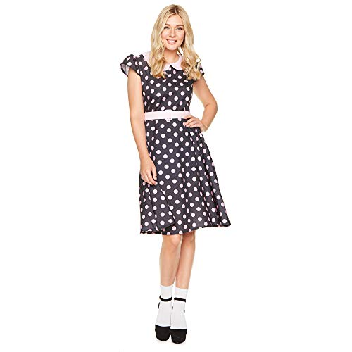 Women's 50s Polka Dot Lady Costume, for Halloween Party Accessory, Large