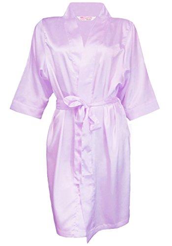 Girl ExtraOrdinaire Exclusive Luxurious Silky Satin Wedding Satin Robe - Lavender (S/M 2-10)