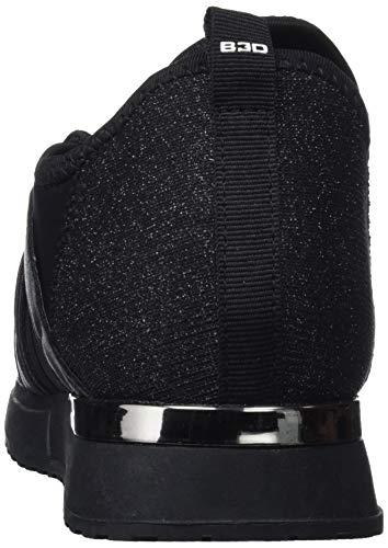 para 41558 bass3d Mujer Negro Zapatillas 1FzqYxYw