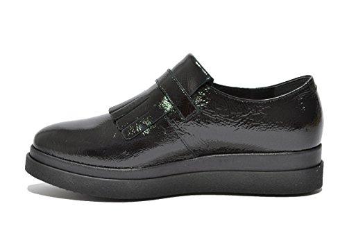 Keys Francesine slip on nero fondo alto scarpe donna 7139