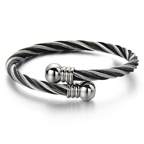 Elastic Adjustable Twisted Bracelet Two tone