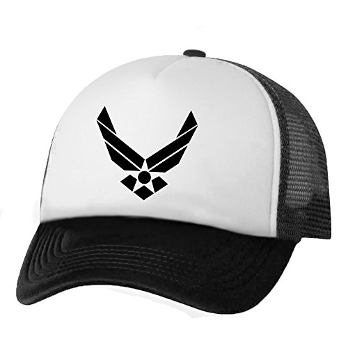 AirForce Wings Truckers Mesh snapback hat in White/Black - One Size