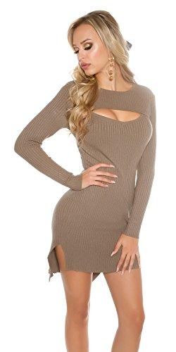 In-Stylefashion - Vestido - para mujer marrón oscuro