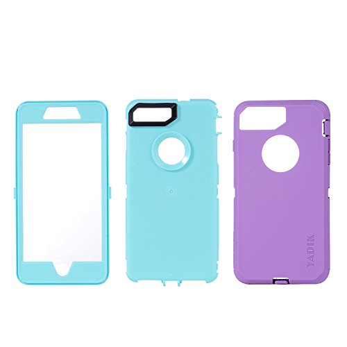iPhone 7 Plus 5.5 inch Case, Yadik Shock Absorption Heavy Duty Military Grade Hybrid Silicone PC Case for iPhone 7 Plus (Purple Blue) Photo #6