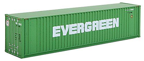 (Walthers SceneMaster 40' Hi-Cube Ribbed-Side Container Evergreen - Assembled Train Collectable Train)