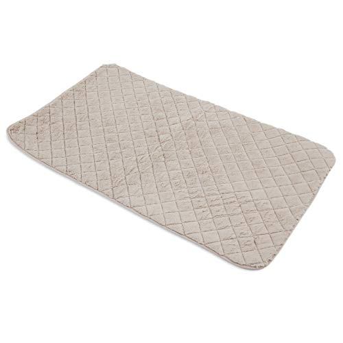 SNOOZZY CREAM 47X28 QUILTED MAT