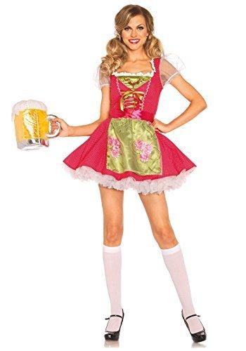 Leg Avenue Beer Garden Gretel Costume (S, Pink) by Leg (Leg Avenue Garden)