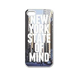 Unique Painting New York State of Mind Pattern Plastic Hard Case for iPhone 5/5S
