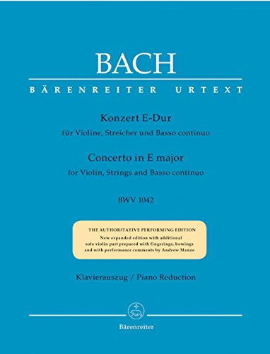 (Bach: Violin Concerto in E Major, BWV 1042)