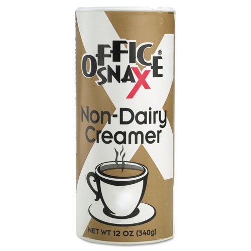 Office Snax 00020CT Reclosable Canister of Powder Non-Dairy Creamer, 12oz, 24/Carton