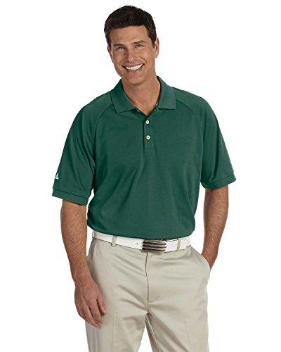adidas Golf Mens Climalite Tour Pique Short-Sleeve Polo (A108) -Park/White -3XL