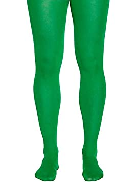 348807139ac9c Image Unavailable. Image not available for. Colour: Adult Mens Green Plain  Tights New Fancy Dress Christmas Xmas Elf Pantyhose Male