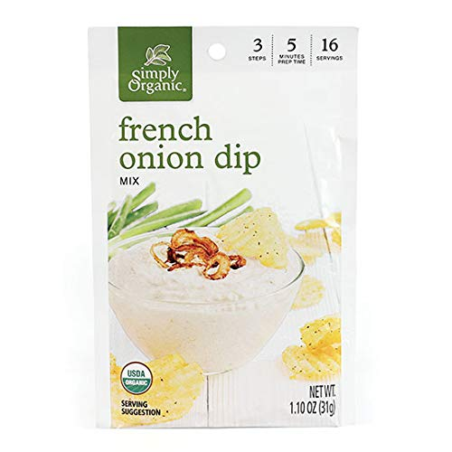 Simply Organic French Onion Dip, Certified Organic, Gluten-Free | 1.1 oz | Pack of 12