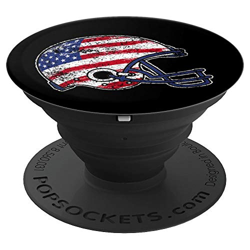 Football USA Flag Pop Socket Player Christmas Birthday Gift - PopSockets Grip and Stand for Phones and Tablets