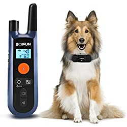 Dog Training Collar W/Remote for Small Medium Large Dogs, 3 Training Mode, Beep, Vibration and Shock, Waterproof Rechargeable Dog Training Set, 1000foot Remote Range (Black1)
