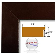 8x10 Executive Leather Smooth Burgundy Red finish Picture Poster Photo Frame Wood Composite 1.5 in Moulding