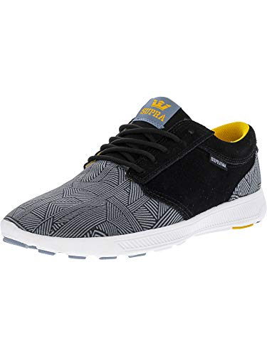 Supra Men's Hammer Run Black/Blue Print White Ankle-High Running Shoe - 11M