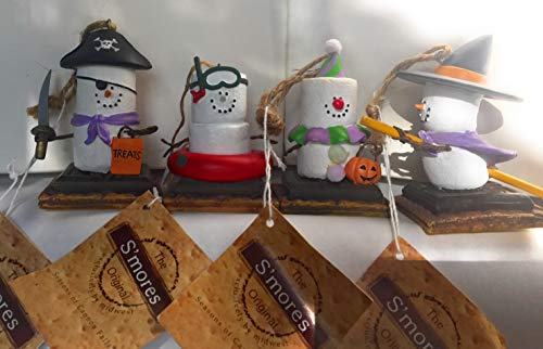 Set of 4 S'Mores Original Halloween Christmas Ornament Midwest of Cannon Falls ()