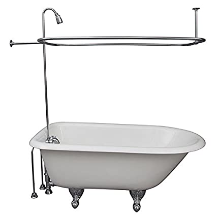 R2200a Clawfoot Tub Shower Faucet And Rectangular Combo Set Shower