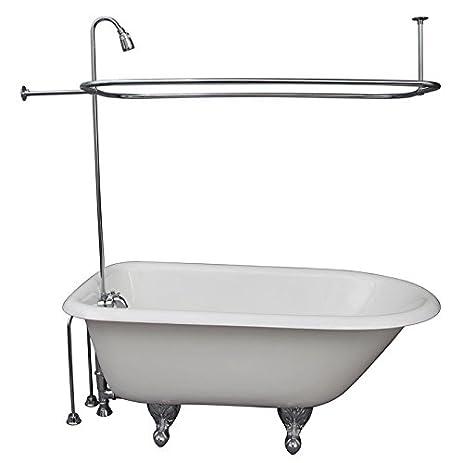 Brass Clawfoot Tub Shower Kit. R2200BR Clawfoot Tub Shower Faucet  Rectangular Combo Set Chromed Brass