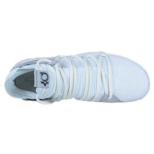 "d0fa98fcfae4c Size  500 × 500 in Nike Mens Kevin Durant KD 10 ""Chrome"" Basketball Shoes  White Chrome 897815-100 ..."