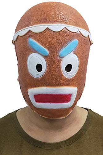 Gingerbread Jumpsuit Costume Halloween Cosplay Costume with Mask (One Size, Adult Mask)]()
