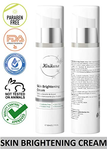 KIRIKURA Vegan Skin Brightening and Lightning Cream for Skin Fairness, Firming, Tightening and Hydration 1.69 fl. oz. (Best Fairness Cream For Womens)