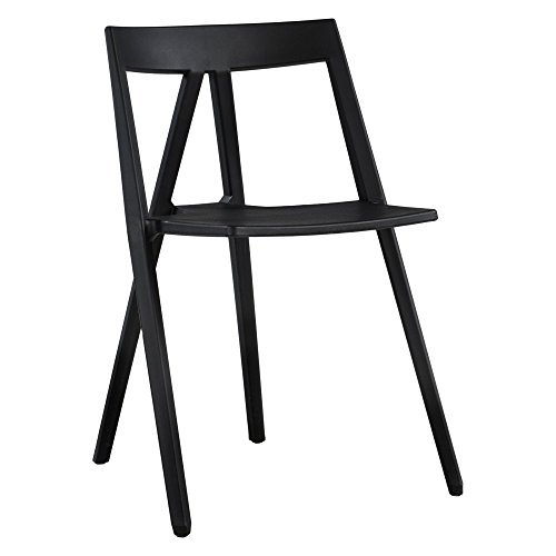 Commercial Seating Products RPP-Milan-BK Polycarbonate Dining Chair Black