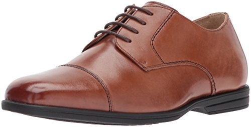 Brown Boys Shoes (Florsheim Kids Boys' Reveal Cap Toe Jr Oxford, Cognac, 1 M US Little Kid)